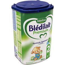 BLEDINA Blédina Blédilait Premium 2 lait 2ème âge épaissi en poudre dès 6 mois 900g 900g