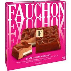 FAUCHON Mousse Carré sublime au chocolat 6-8 parts 445g