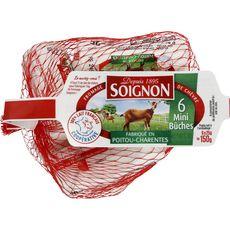 SOIGNON Mini bûche de chèvre 6 portions 150g