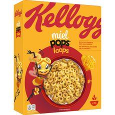 KELLOGG'S Miel Pops Loops Céréales au miel 400g