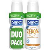Sanex Sanex Zéro% Déodorant spray compressé sensitive 24h 2x100ml