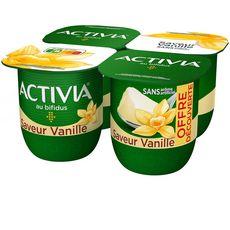 ACTIVIA Activia saveur vanille 4x125g offre découverte