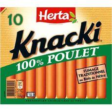 Herta HERTA Saucisses Knacki 100 % Poulet