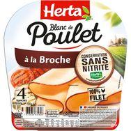 Herta Herta Blanc de poulet à la broche sans nitrite 4 tranches 120g