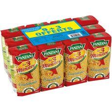 PANZANI Panzani pâtes cuisson rapide coquillettes 9x500g +3