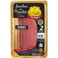 PETITGAS Jambon de Vendée à poêler AOP 2 tranches épaisses 180g