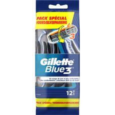 Gillette Blue 3 rasoirs jetables 3 lames x12