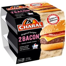 CHARAL Cheeseburger 2 personnes 155g
