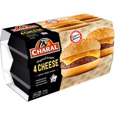 CHARAL Cheeseburger 4 personnes 145g
