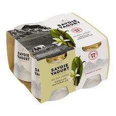 SAVOIE YAOURT Yaourt entier sucré aromatisé à la vanille 4x125g