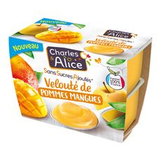 Charles et Alice velouté pomme mangue 4x97g