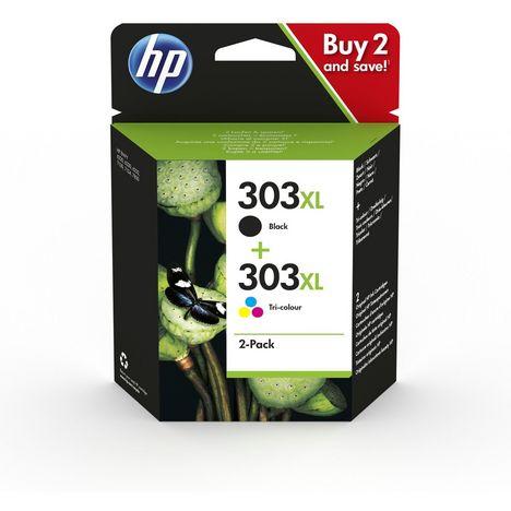 HP Pack de 2 Cartouches d'encre 303 XL Noir et Couleur