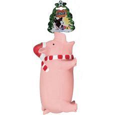 RIGA Jouet cochon grogneur petit modèle sur corde pour chien 1 pièce