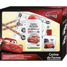 CORINE DE FARME Corine de Farme Cars Coffret enfant eau de toilette gel douche et crayons 4 pièces