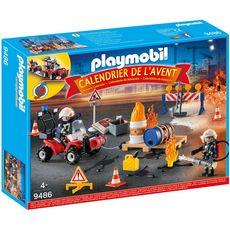 PLAYMOBIL Playmobil Calendrier de l'avent pompiers et incendie de chantier - 9486 x1 1 pièce