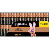 Duracell Plus piles AAA 28+8