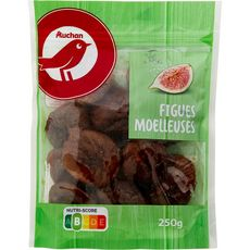Auchan figues moelleuses séchées 250g