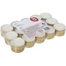 ACTUEL Actuel Bougies chauffe plats non parfumées en or x30 30 pièces