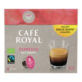 Nescafé Café Royal espresso bio pour Dolce Gusto x16 -96g