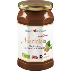 NOCCIOLATA Nocciolata Pâte à tartiner bio au cacao et noisettes  huile de palme 900g 900g