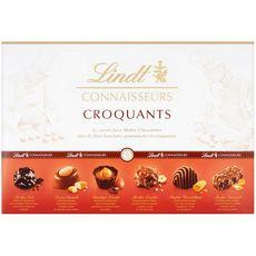 LINDT Connaisseurs Croquants Assortiment de chocolats 405g