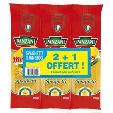 PANZANI Panzani Spaghetti cuisson rapide  2x500g+500g offert 2x500g +500g offert