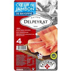 DELPEYRAT Coeur de jambon de Bayonne IGP 4 tranches 70g