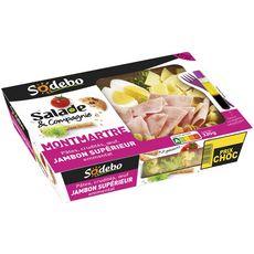 Sodebo Salade montmartre pâtes, crudités, œuf, jambon, emmental 320g