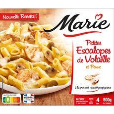 MARIE Petites escalopes de volaille et penne 4 portions 900g