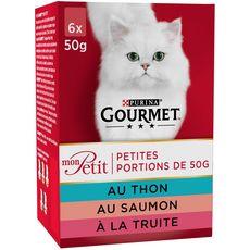 GOURMET Mon petit sachets repas pâtée poissons pour chat 6x50g
