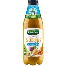 Créaline Velouté aux 5 légumes réduit en sel 95cl
