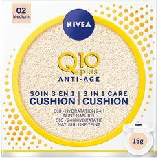NIVEA Q10 Plus anti-âge soin 3en1 cushion 02 medium 15g