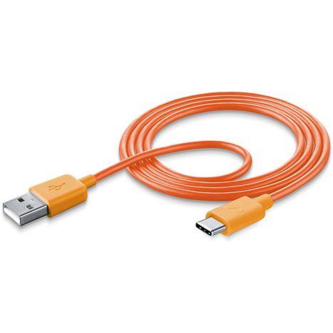 CELLULARLINE Câble USB/USB-C 1 m Orange