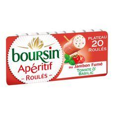 BOURSIN BOURSIN Apéritif Roulés de jambon fumé tomate et basilic 111g 20 roulés 111g
