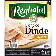 REGHALAL Reghalal blanc de dinde à la provençale tranche x4 -120g