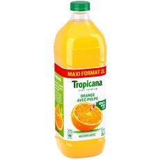 Tropicana Jus pure premium 100% orange avec pulpe 2l