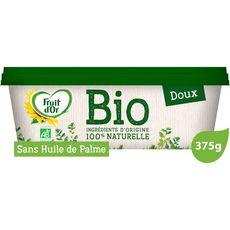 FRUIT D'OR Margarine bio doux sans huile de palme 375g