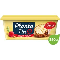 PLANTA FIN Margarine doux pour tartine et cuisson 250g