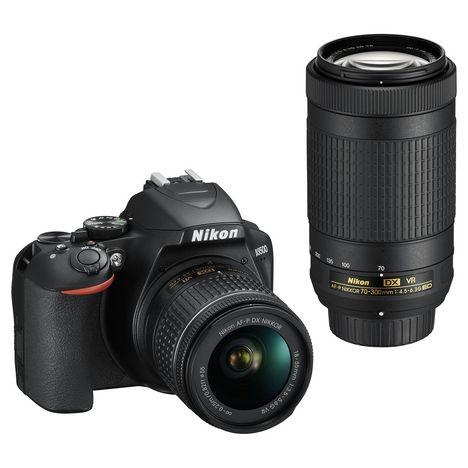 NIKON Appareil photo reflex D3500 Noir + objectif AF-P DX 18-55VR + objectif AF-P DX 70-300VR