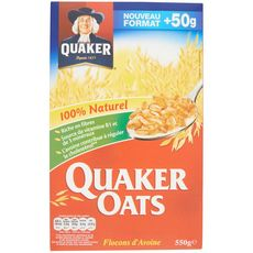 QUAKER Quaker Oats flocons d'avoine 550g 550g
