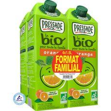 Pressade nectar d'orange bio 4x1,5l format familial