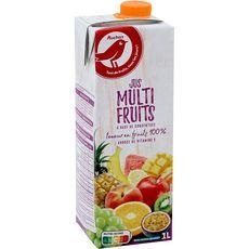 AUCHAN Jus multifruits à base de concentré brique 1l