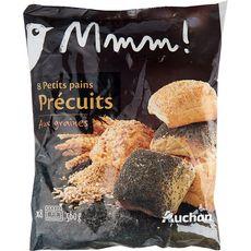 Petits pains précuits aux graines
