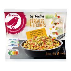 AUCHAN Pôelée de céréales et légumes 5 portions 750g