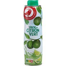 AUCHAN Sirop citron vert bidon métal 60cl