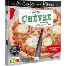 AUCHAN Pizza au fromage de chèvre 380g