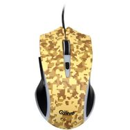 QILIVE Souris Gaming Filaire USB 2.0 Camouflage Jaune