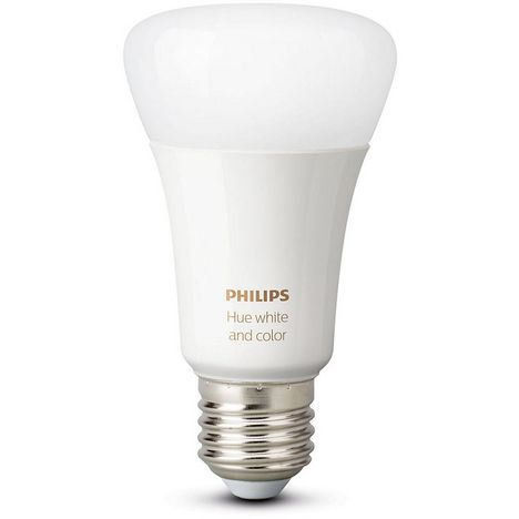 PHILIPS Lot de 2 Ampoules connectées Hue 10 W LED E27 Bluetooth Blanc