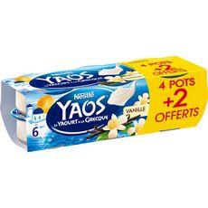 YAOS Yaos Yaourt à la grecque vanille 6x125g 6x125g