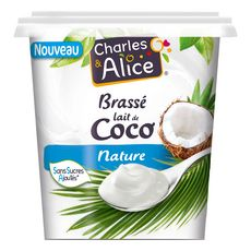 CHARLES & ALICE Charles et Alice Dessert végétal brassé lait de coco nature 350g 350g